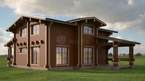 Проект дома Монрепо клееный брус