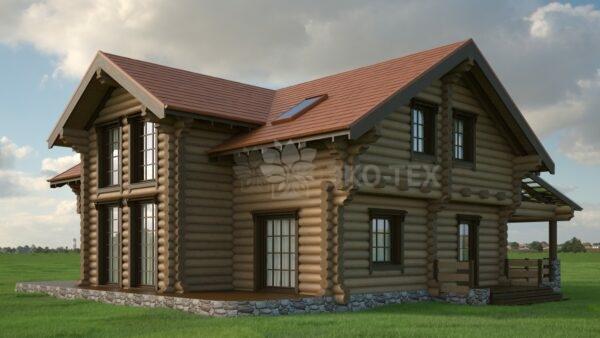 Проект дома Нидерланды оцилиндрованное бревно
