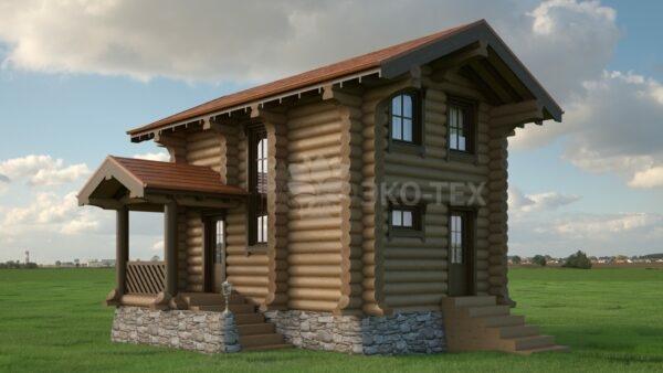 Проект дома Нордик-1 оцилиндрованное бревно
