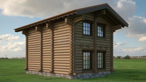 Проект дома Норвежец оцилиндрованное