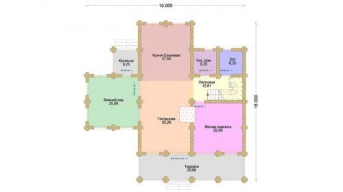 Проект дома Онегин оцилиндрованное