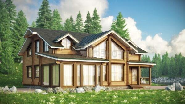 Проект дома Остров клееный брус