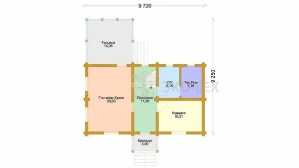 Проект дома Подмосковье 2 оцилиндрованное
