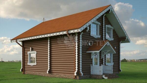 Проект дома Подворье оцилиндрованное