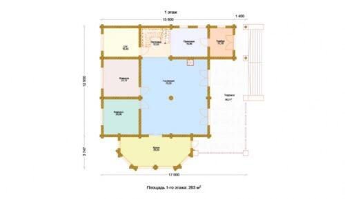 Проект дома Принц оцилиндрованное