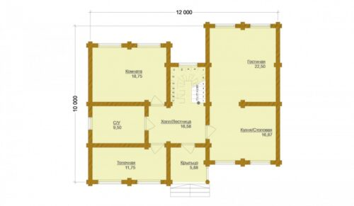 Проект дома Рига оцилиндрованное