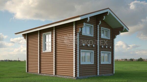 Проект дома Робин Гуд оцилиндрованное