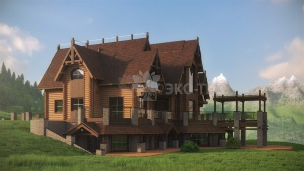 Проект дома Русь оцилиндрованное