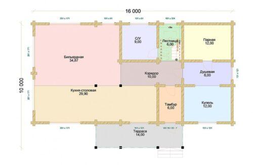 Проект дома Сахара клееный брус