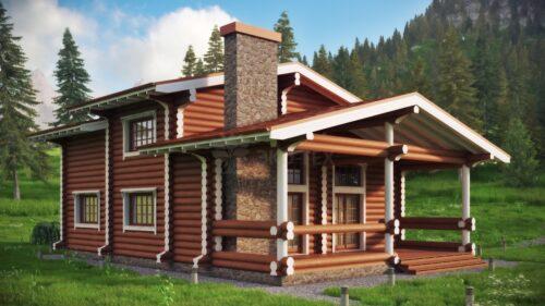 Проект дома Сайма оцилиндрованное