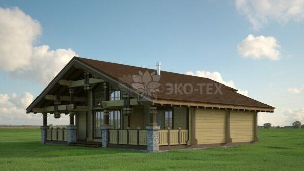 Проект дома Скандинавия клееный брус