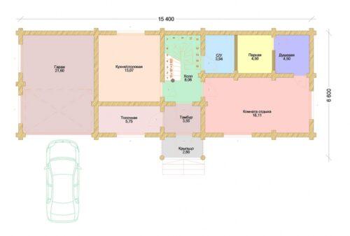 Проект дома Сирень оцилиндрованное