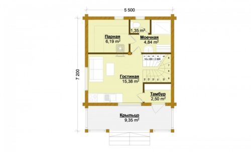Проект дома Сицилия клееный брус