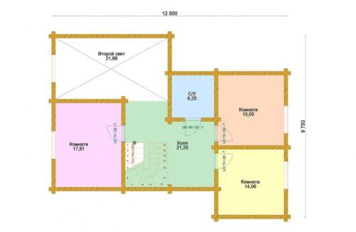 Проект дома Соната клееный брус
