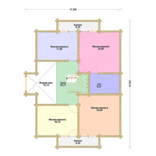 Проект дома Созвездие клееный брус