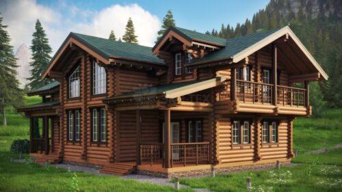 Проект дома Тополь оцилиндрованное
