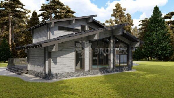 Проект дома Триада клееный брус