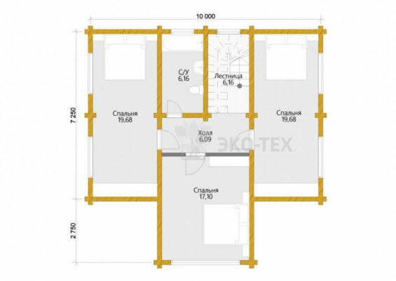 Проект дома Вена клееный брус планировка