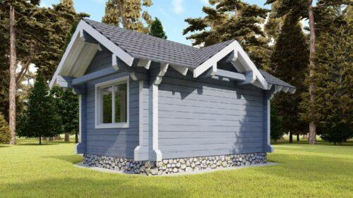 Проект дома Выставочный клееный брус