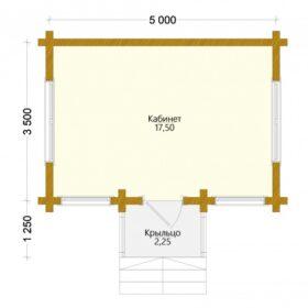 Проект дома Выставочный клееный брус планировка