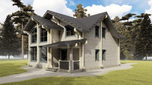 Проект дома Вольтер клееный брус
