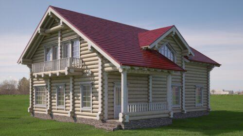 Проект дома Воронеж оцилиндрованное