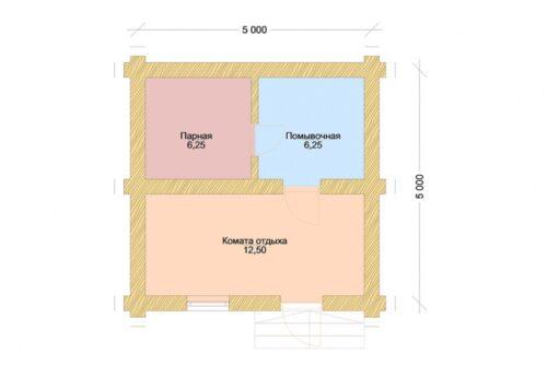 Проект дома Агата оцилиндрованное бревно