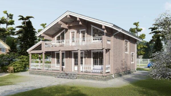 Проект дома Алексин клееный брус