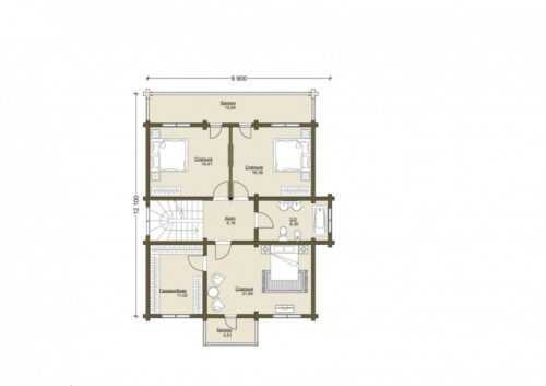 Проект дома Алексин клееный брус планировка