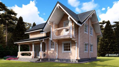 Проект дома Архангельск оцилиндрованное бревно