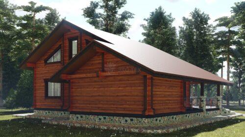 Проект дома Арктика клееный брус