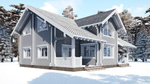 Проект дома Австрия клееный брус