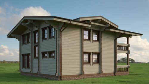 Проект дома Байрон клееный брус
