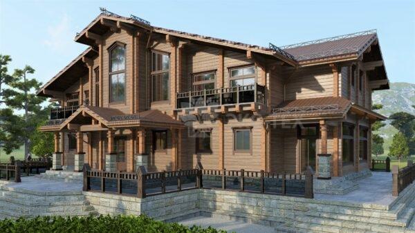Проект дома Барвиха клееный брус