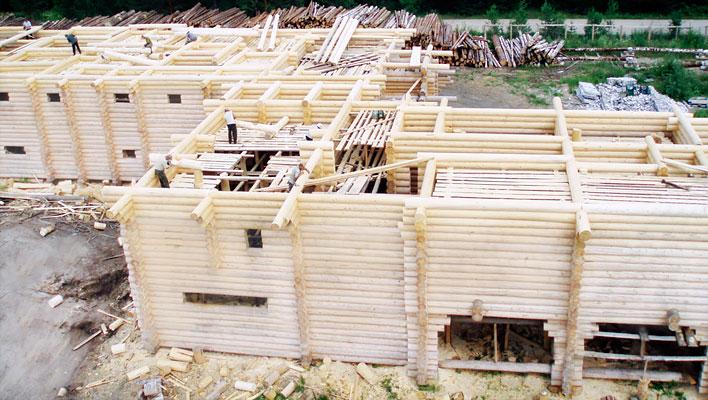Эко-тех самый большой в мире дом ручной рубки