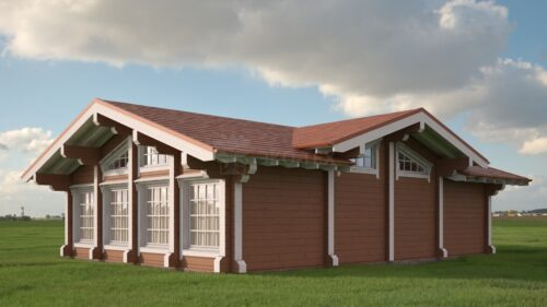 Проект дома Бильярдная клееный брус