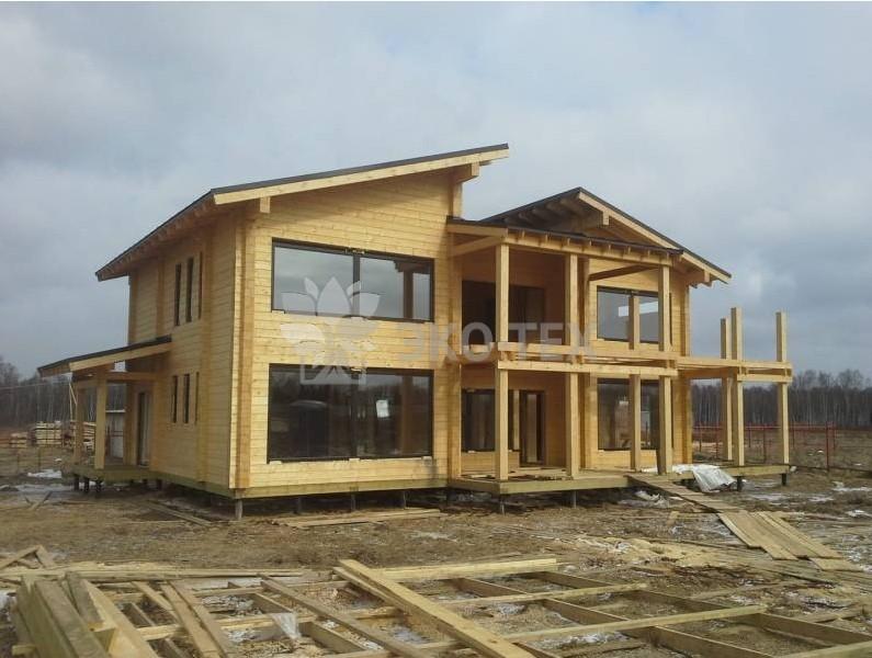 Эко-тех строительство дома из клееного бруса