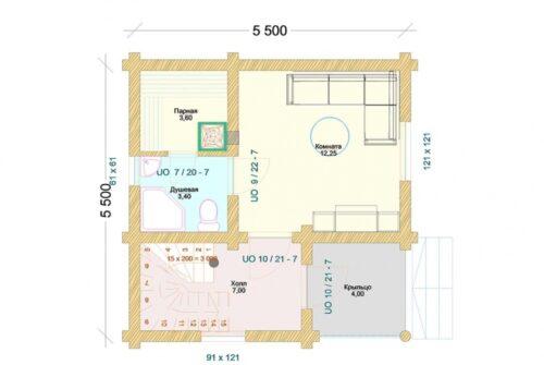 Проект дома Бронницы оцилиндрованное бревно