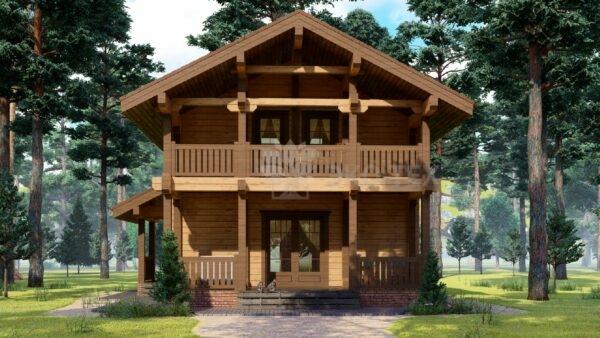 Проект дома Бунырево клееный брус
