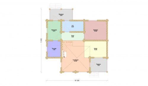 Проект дома Джузеппе оцилиндрованное бревно планировка