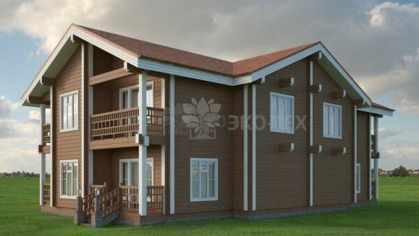 Проект дома Дуэт клееный брус