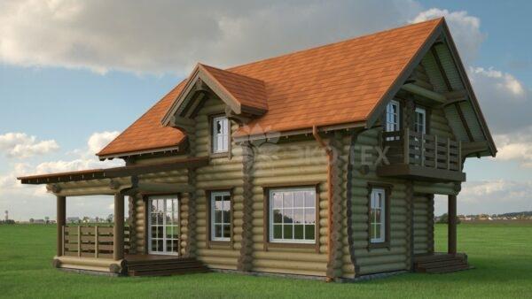 Проект дома Эллада оцилиндрованное