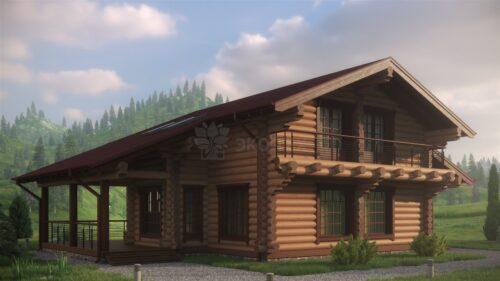 Проект дома Флинт оцилиндрованное бревно