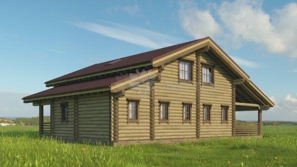 Проект дома Флинт Стандарт оцилиндрованное бревно
