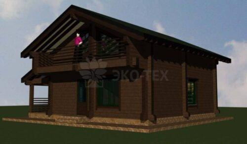 Проект дома Форест клееный брус