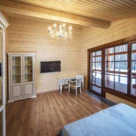 """Фото деревянный дом из клееного бруса по проекту """"Байрон"""" - фото"""