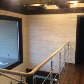 """Фото деревянный дом из клееного бруса по проекту """"Дипломат"""""""