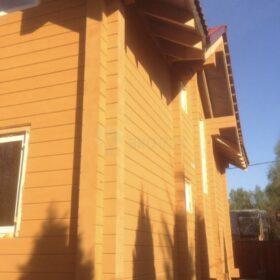 Фото дома из клееного бруса