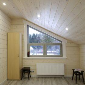 """Фото деревянный дом из клееного бруса по проекту """"Крым"""""""