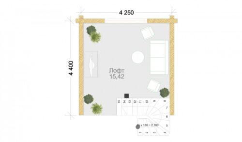 Проект дома Гарда клееный брус